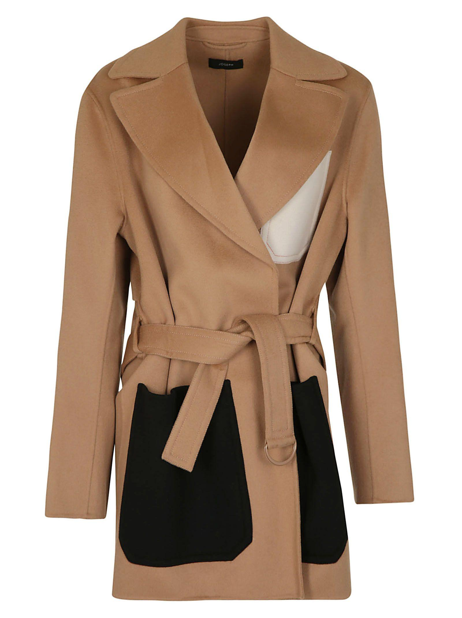3a843bf509d Joseph Marcus Short Luxe Double Wool Coat In Camel | ModeSens