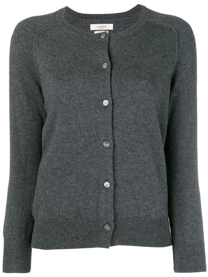 Isabel Marant Étoile Round Neck Cardigan In Grey