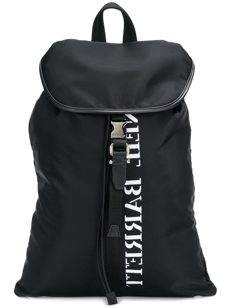 b23c40c5b2 Neil Barrett Logo Strap Rucksack - Black