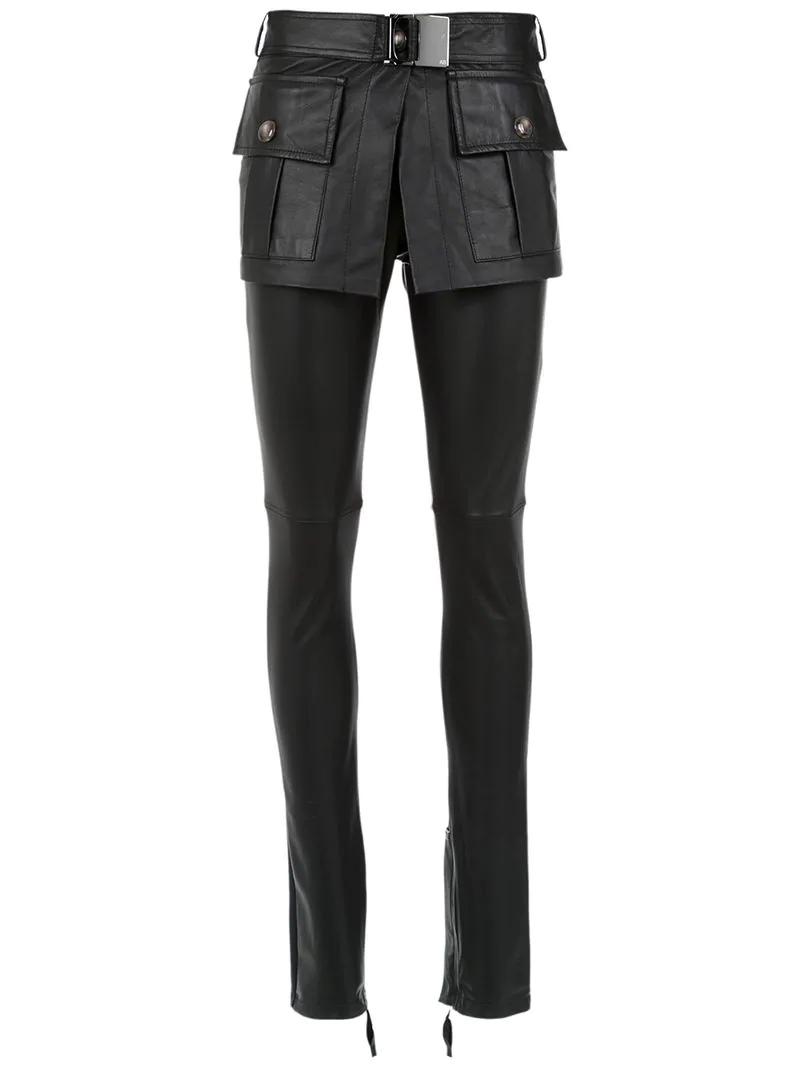 94fed6368e Andrea Bogosian Leather Skinny Trousers In Black | ModeSens