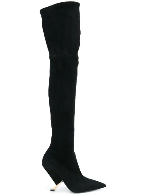 Casadei Over The Knee Boots - Black