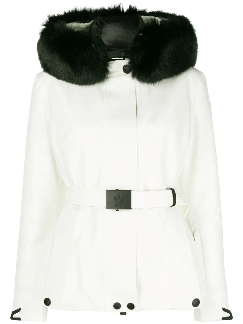 56c211ca7 Padded Fur Jacket in White
