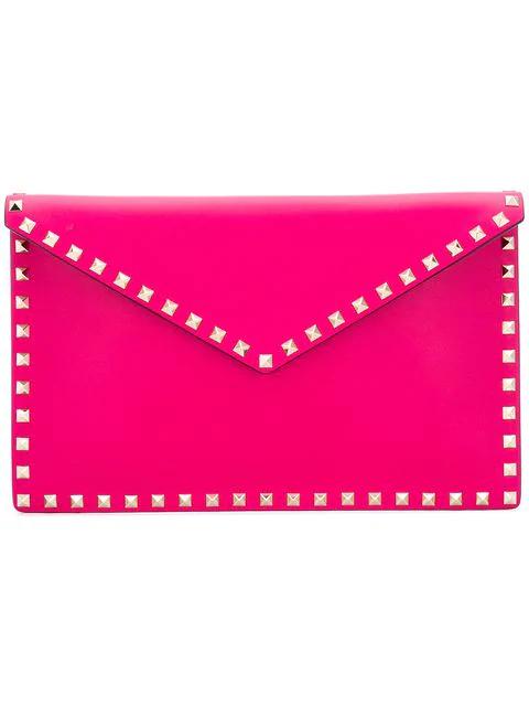22e55516090 Valentino Garavani Rockstud Envelope Clutch - Pink In Pink & Purple ...