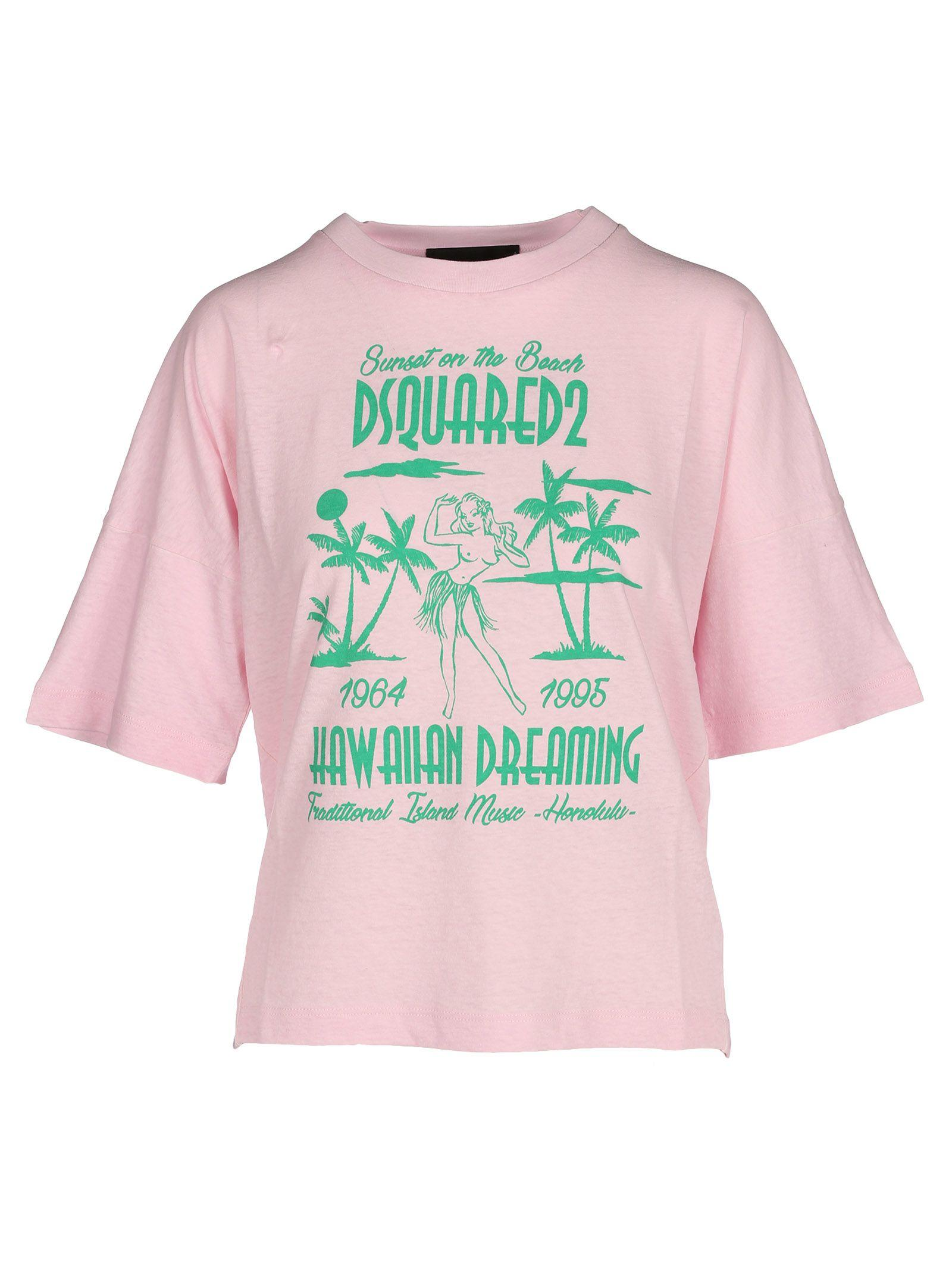 02169c07 Dsquared2 D Squared Tshirt Girl Hawaii In Rose | ModeSens