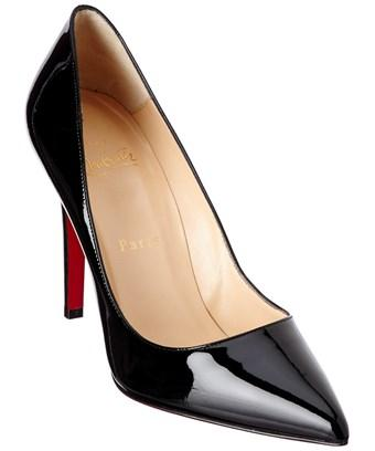 free shipping d7691 a2bc1 Christian Louboutin Pigalle 100 Patent Pump in Black