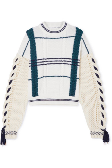b392e257f Carven Cable-Knit Wool And Alpaca-Blend Sweater In Ecru