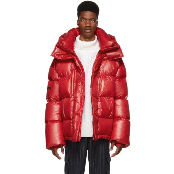 Juun.j Hood Padded Jacket - Red In 6 Red