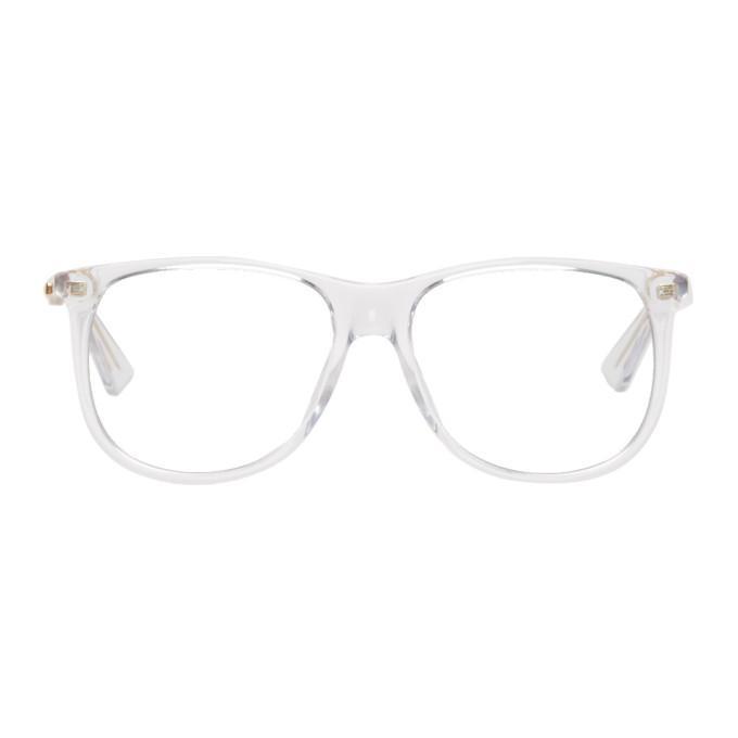56c6c72b33e Gucci Transparent 80S Monocolor Glasses In 006 Crystal