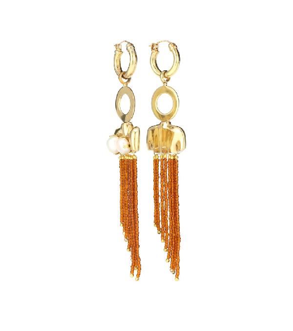 Ellery Barbosa Large Torso Earrings In Gold