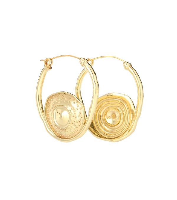 Ellery Single Pop Hoop Earrings In Gold