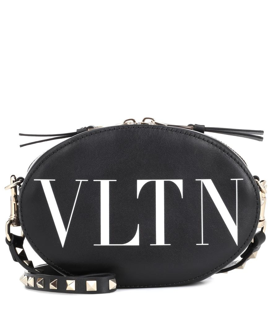ea389b04a3f5b Valentino Vltn Leather Crossbody Bag In Black   ModeSens