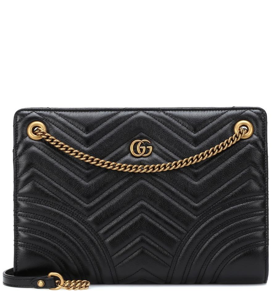 Gucci Gg Marmont Medium Shoulder Bag In Black