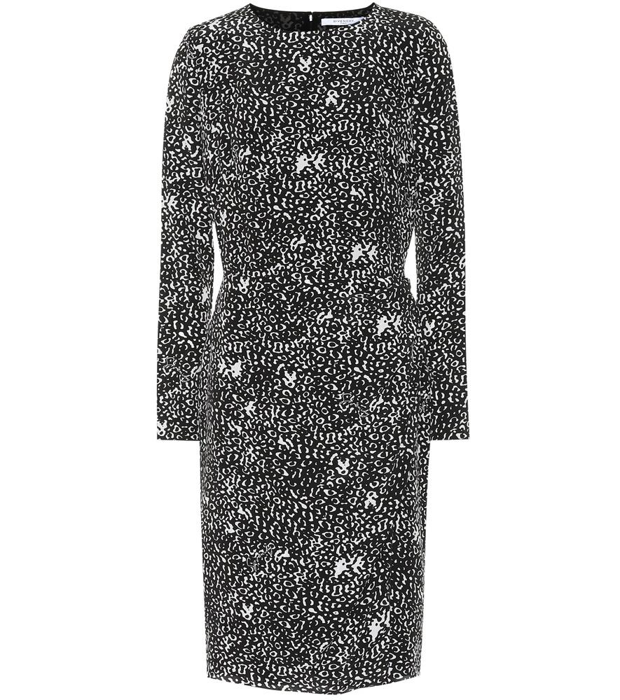Givenchy Leopard Silk CrÊPe Dress In Black