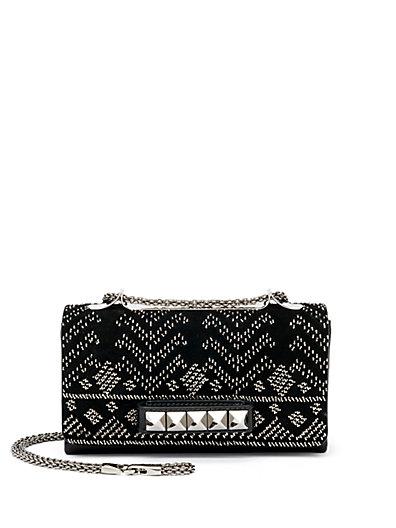 Valentino Va Va Voom Embellished Shoulder Bag In Black