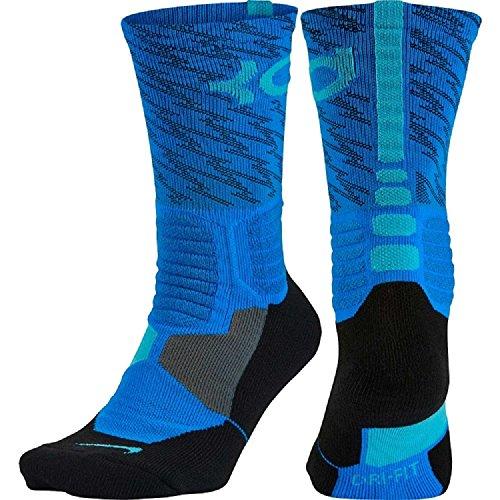 38f1f0dcaab1 Nike Kd Hyper Elite Crew Basketball Socks In Photo Blue Omega Blue ...