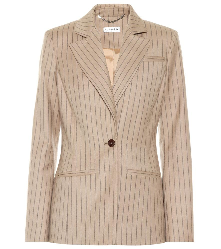 Altuzarra Acacia Striped Wool-Blend Blazer In Beige
