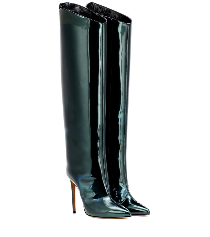 0db6015f9f1a6 Alexandre Vauthier Alex Patent Leather Boots In Green