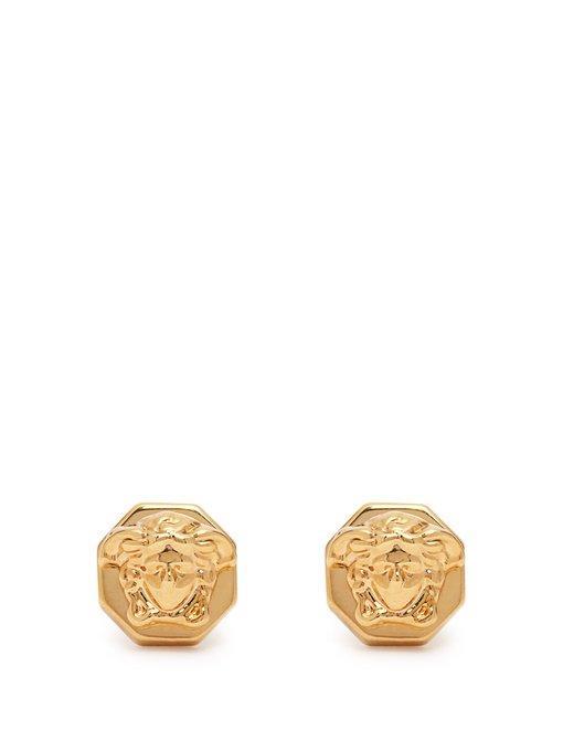 604da6803 Versace Medusa Gold-Tone Stud Earrings | ModeSens