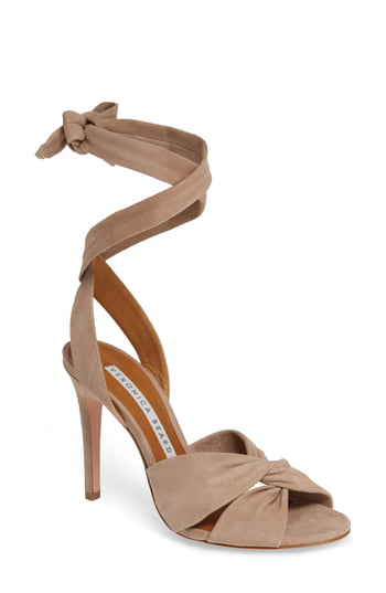 d2be311f0 Veronica Beard Calida Suede 100Mm Sandals In Fawn | ModeSens