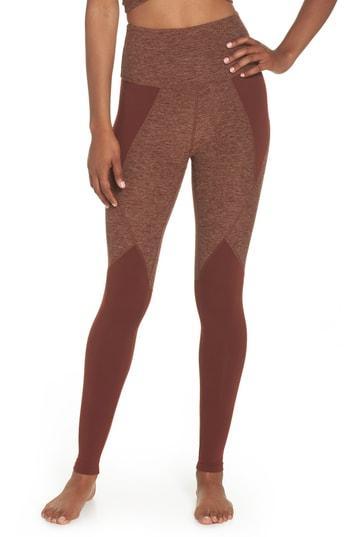 5d8cee7c1e Beyond Yoga Space Dye Panel High Waist Leggings In Red Rock/ Tumbleweed