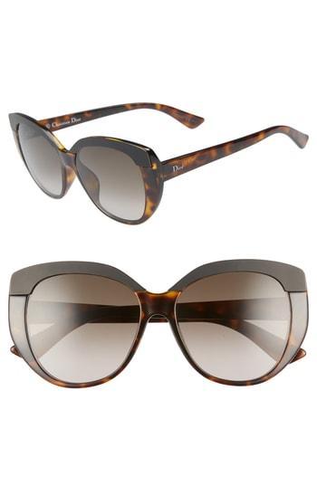 96bb7bf8f02c Dior Soft 55Mm Cat Eye Sunglasses - Havana
