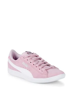 a0c3d50f4 Puma Vikky Leather Low-Top Sneakers In Purple | ModeSens