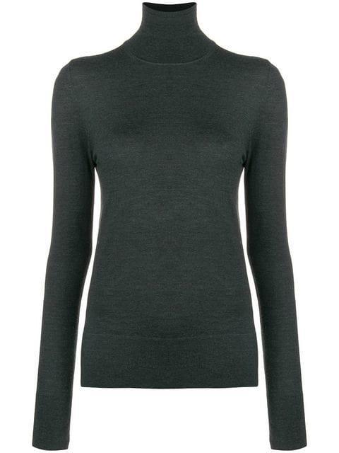 Joseph Lightweight Turtleneck Sweater - Green