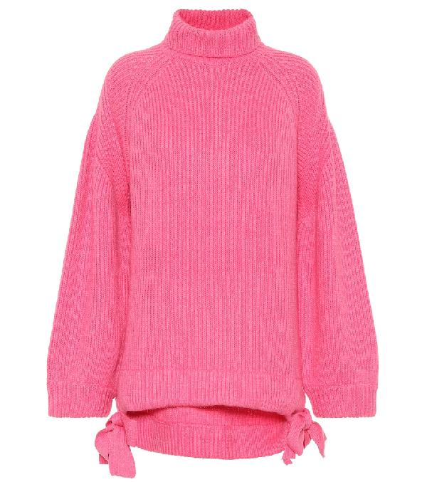 Ellery Wallerian Oversized Wool-Blend Roll-Neck Sweater In Pink & Purple