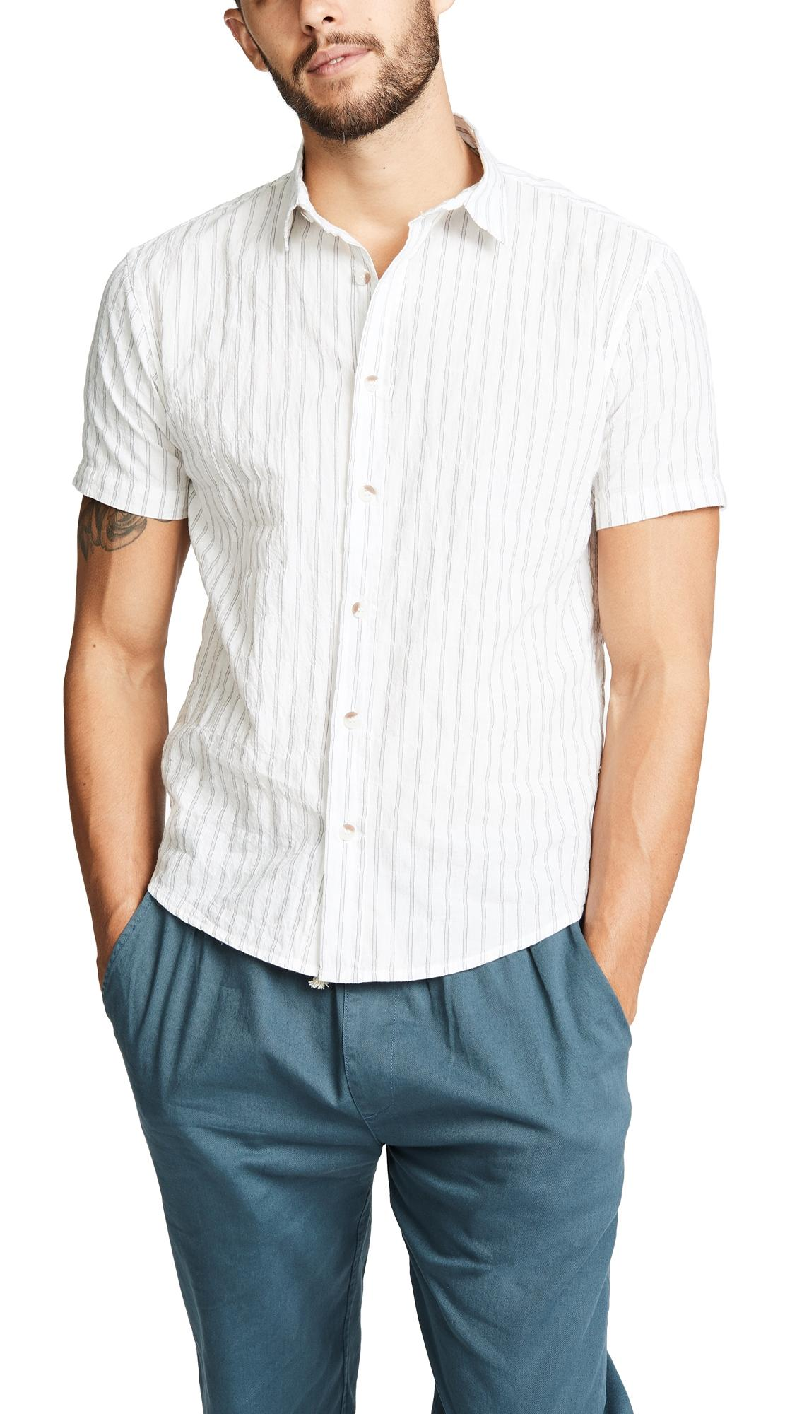 76e7d8aed86f Mollusk Summer Shirt In White Stripe