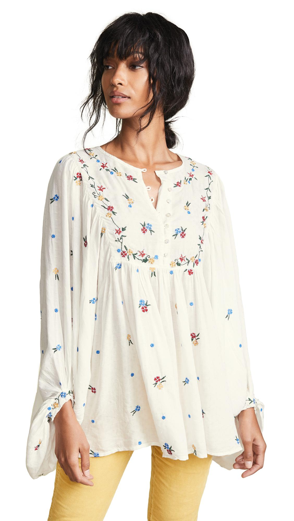 cf34aaf6b26 Free People Kiss From A Rose Blouse In Ivory | ModeSens