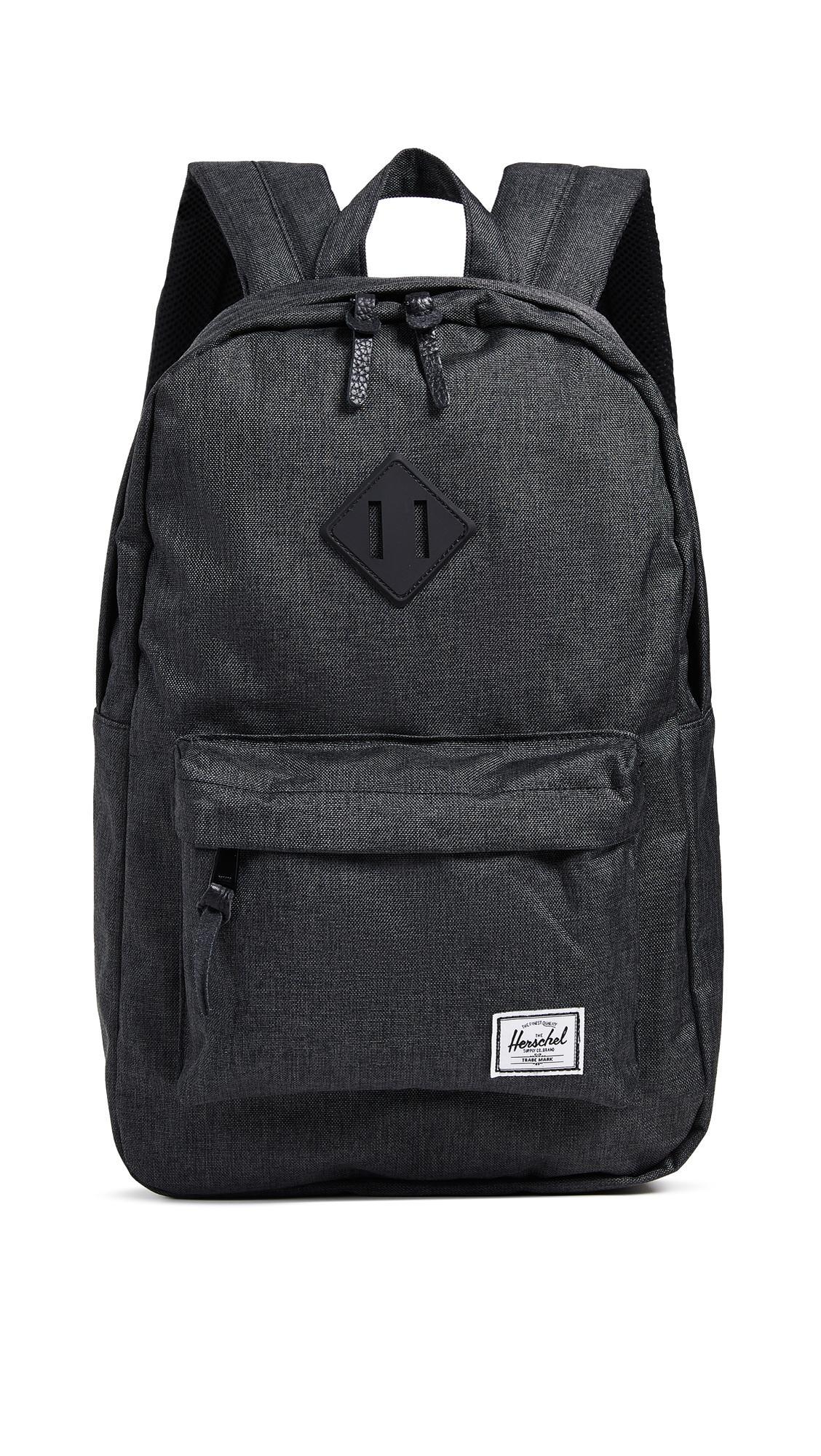 01def986be9 Herschel Supply Co. Heritage Mid Volume Backpack In Black Crosshatch ...
