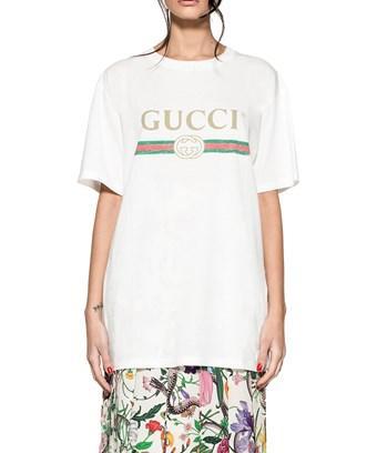 4ebab86a Gucci Women's White Cotton T-Shirt | ModeSens