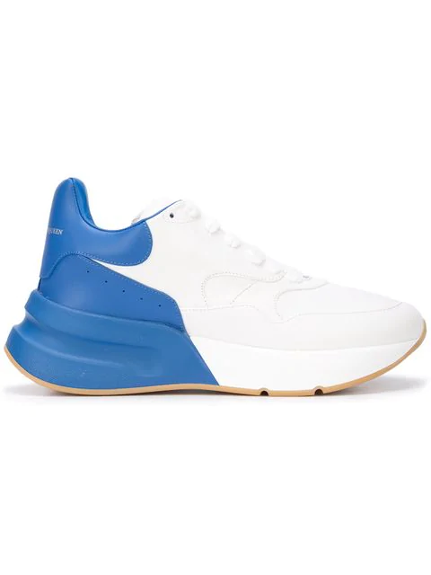Alexander Mcqueen Oversized Runner Leather Trainers In White