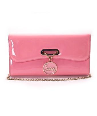 0e65829342 CHRISTIAN LOUBOUTIN. Christian Louboutin Womens Riviera Clutch Rouge Pink  ...