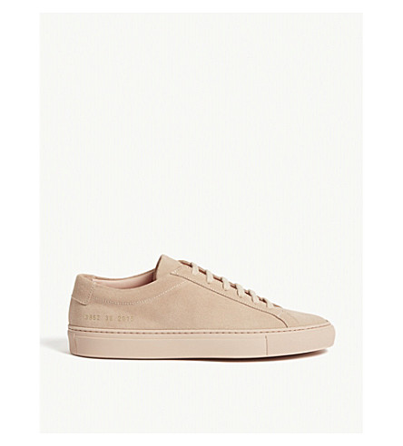 Common Projects Achilles Suede Low-top Trainers In Blush Suede
