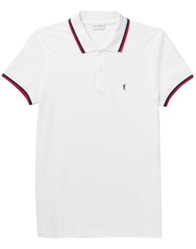 71903b97845 Saint Laurent Polo Shirt In White | ModeSens