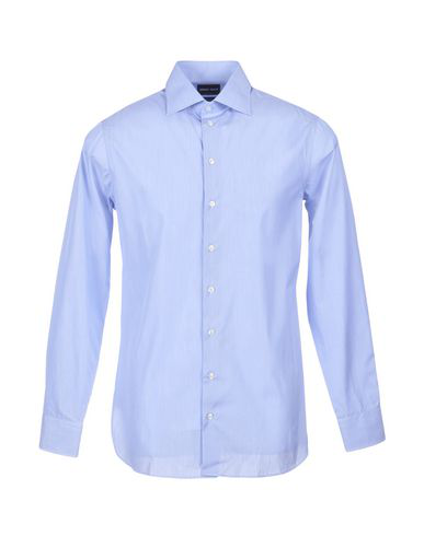 Giorgio Armani Solid Color Shirt In Ua Light Blue