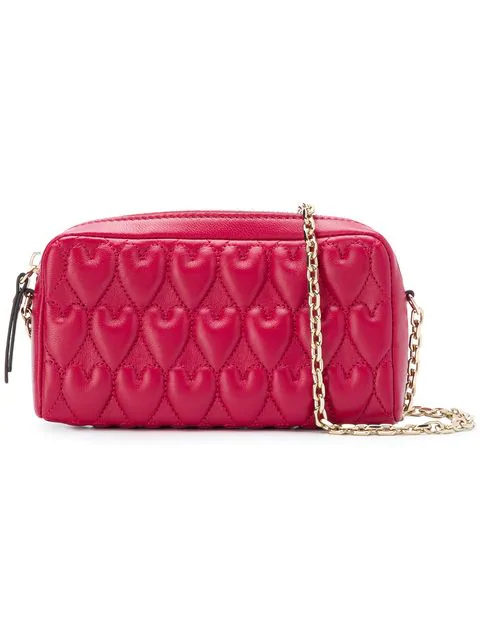 Red Valentino Red(v) Logo Quilted Shoulder Bag