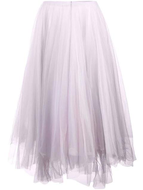 Marc Le Bihan Tulle Midi Skirt In Pink