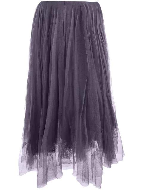 Marc Le Bihan Tulle Midi Skirt In Purple