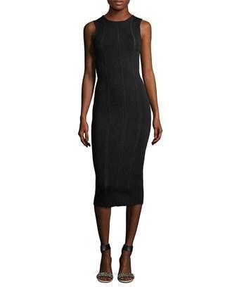 Victoria Beckham Knit Midi Dress In Nocolor