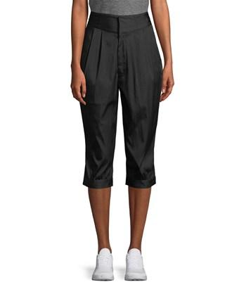 Y-3 Pleated Carrot Fit Cropped Pant In Nocolor