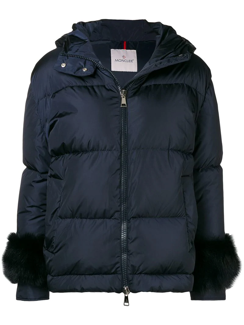 b232dfa035c Moncler Fur-Embellished Down Jacket - Blue