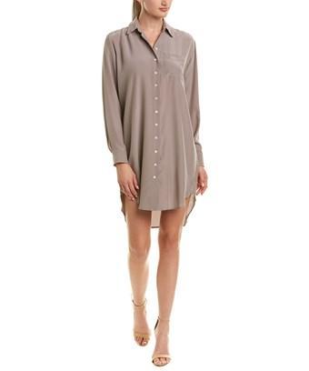 Amanda Uprichard Silk Shirtdress In Brown