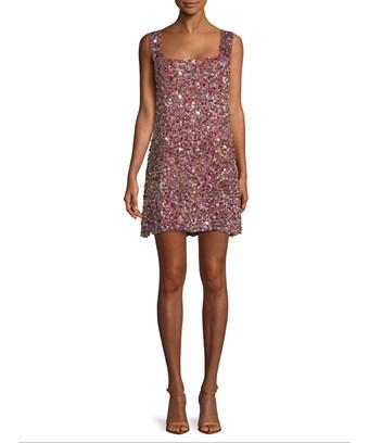 Alexis Gina Sequined Mini Dress In Nocolor
