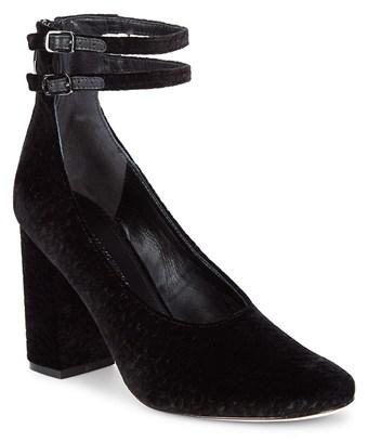 1a5e824d68f Plum Ankle-Strap Almond Toe Pumps in Black