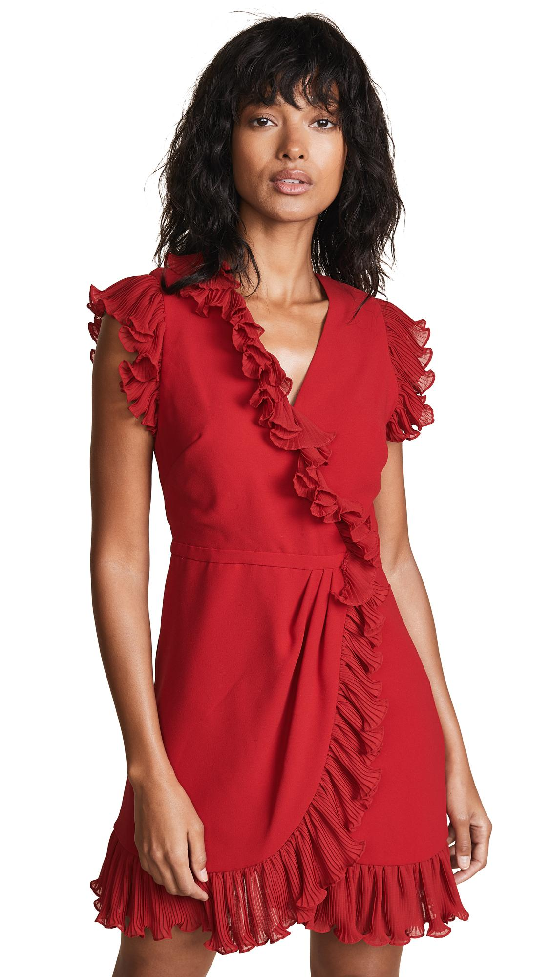 25599a8452c Jill Jill Stuart Ruffle Trim Dress In Poppy Red