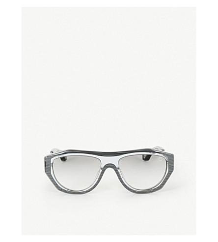 Blake Kuwahara Larsen Acetate And Metal Sunglasses In Grey