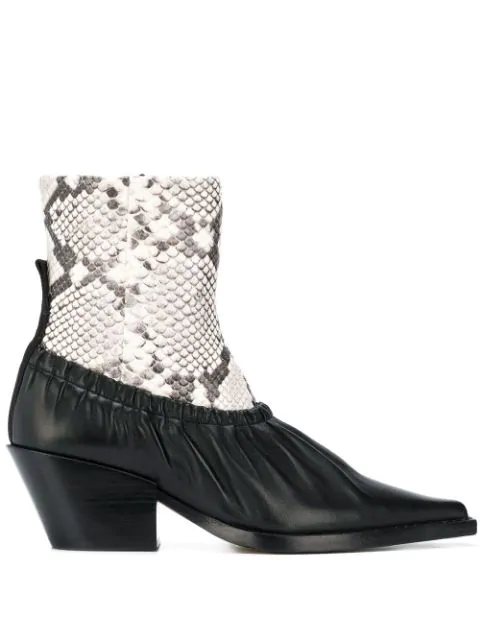 Joseph Albias Leather Ankle Boots In Black