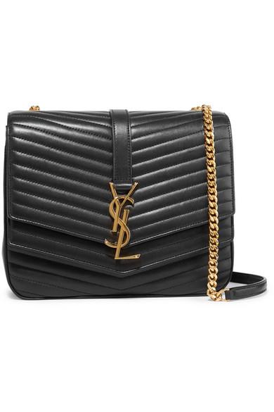 2692b82c35d Saint Laurent Sulpice Medium Quilted Leather Shoulder Bag In Black ...